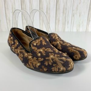 Stubbs & Wootton embroidered flats size 8